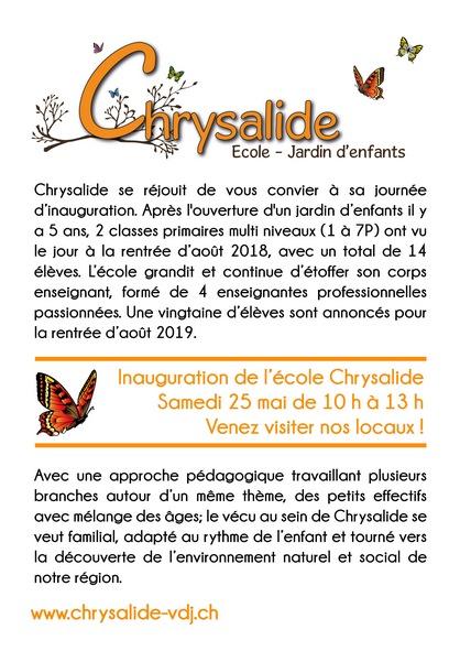Inauguration Chrysalide 25.05.2019